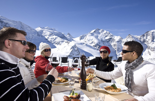 St Moritz Lunch with Friends