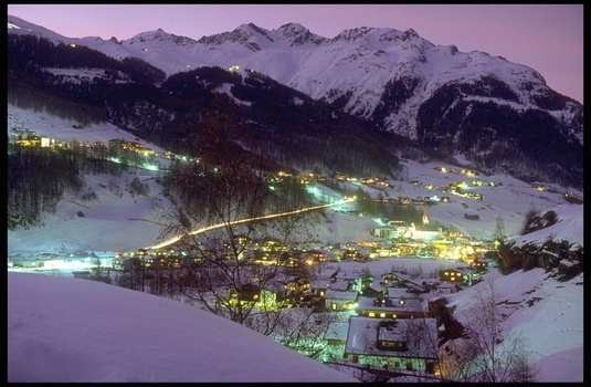 Solden Village at Night