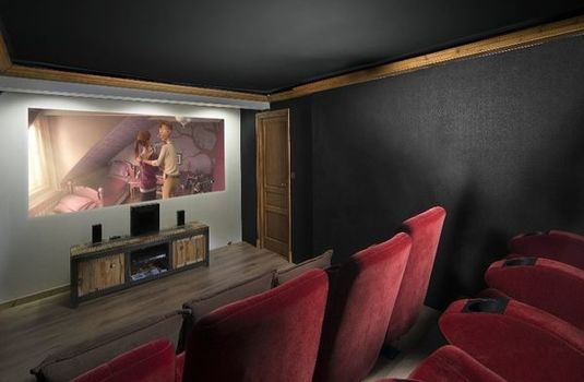 Resort carousel chalet aigrette cinema room