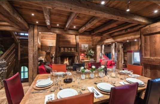 Resort carousel courchevel luxury chalet dining room