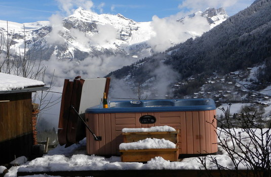 Resort carousel chalet mont blanc new hottub