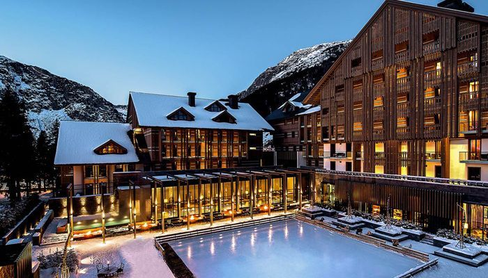 Ski hotels at Christmas