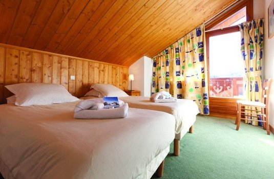 Chalet Bellevarde luxurious bedroom in the French ski resort of Val d'Isere