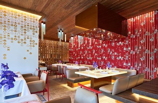 Resort carousel alpina gstaad dining red