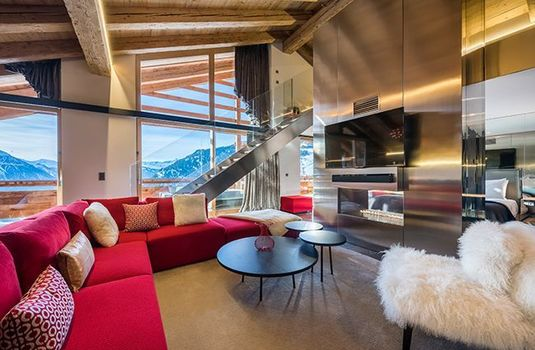 Resort carousel w verbier fireplace
