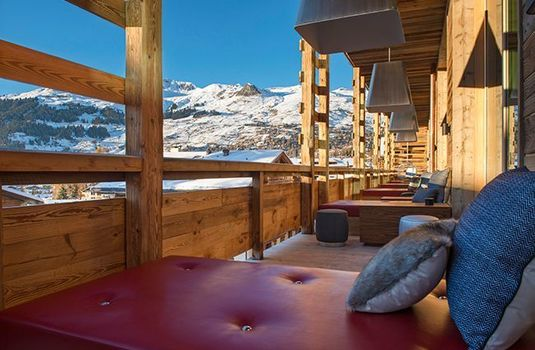Resort carousel w verbier terrace