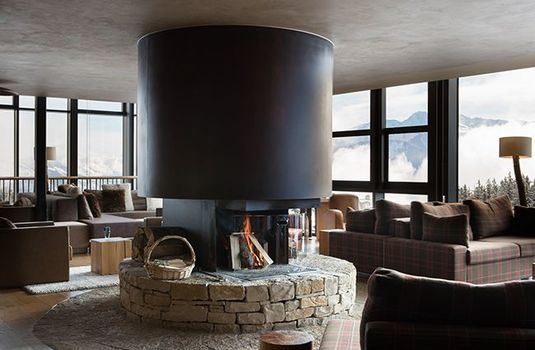 Resort carousel crans ambassador fireplacers