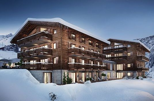 Resort carousel lux alp chalet exterior snow2rs