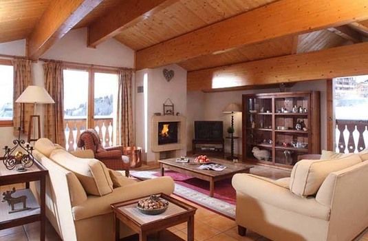 Resort carousel ski chalet france panoramique living room