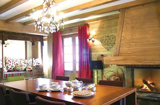 Dining at Chalet La Vieille Forge, Courchevel