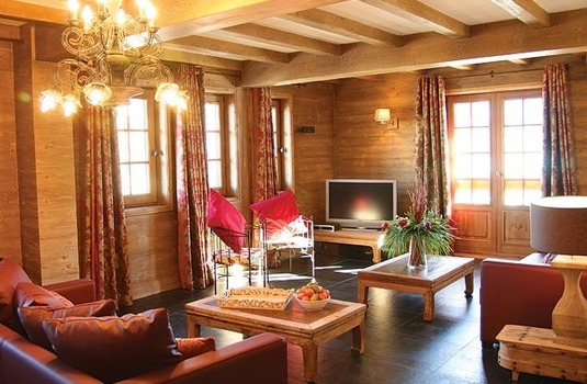 Living Room at Chalet La Vieille Forge, Courchevel