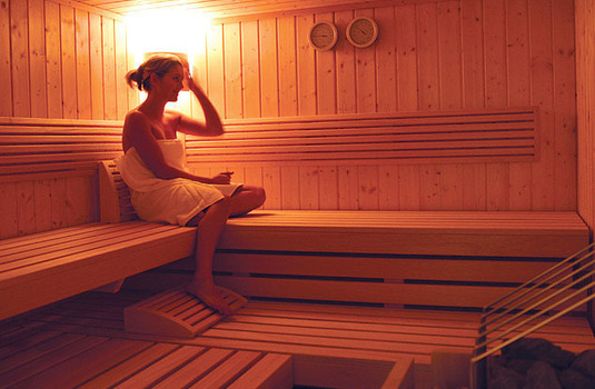 Wind down in the sauna at Chalet Mooserwirt, St Anton