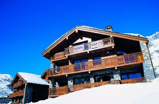The charming Chalet Bellevarde in the French ski rsort of Val d'Isere