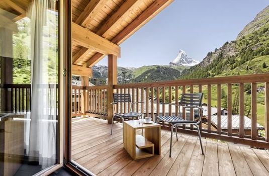 Resort carousel chalet chamois view